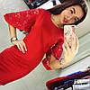 Платье-футляр с гипюровыми рукавами, фото 2