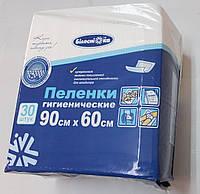 Пеленки одноразовые впитывающие 90х60 см/ упаковка 30 штук/ Белоснежка, фото 1