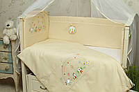 Защитный бампер (бортики) в детскую кроватку Радуга