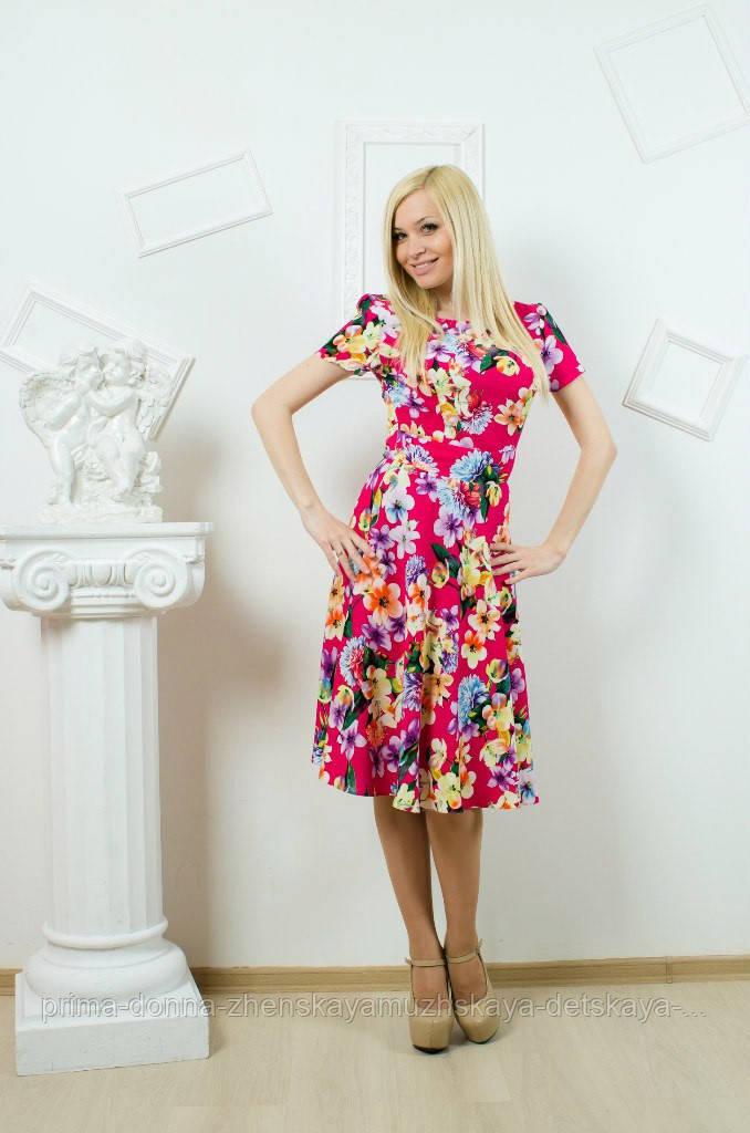 """Платье летнее с цветочным принтом - """"Prima-donna"""" Женская,мужская ,детская одежда. в Николаеве"""