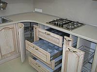 Деревянная кухня по индивидуальному проекту. Массив - дуб,ольха,ясень
