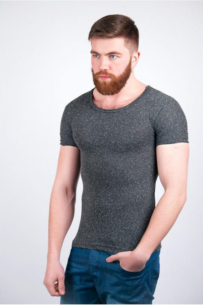 Мужская футболка 6120 Синий Бордовый S