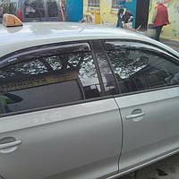 Дефлекторы окон (ветровики) на Шкода Рапид с 2012> седан (клеющие) ANV air.