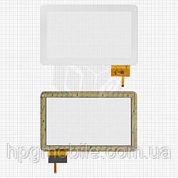 Touchscreen (сенсорный экран) для GoClever Tab A104, белый, оригинал