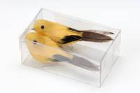 Птички, желтые, 2шт/уп