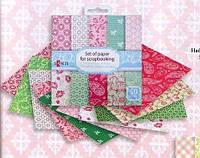 Набор бумаги для скрапбукинга,  10 дизайнов 50 шт, 15,2 х 15,2 см