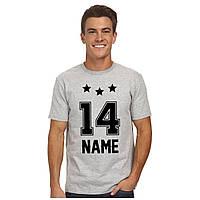 Именная футболка с номером  и звездами