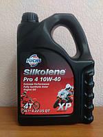 Мотоциклетное масло FUCHS Silkolene PRO 4 10w-40 (4л.) для 4-тактных двигателей