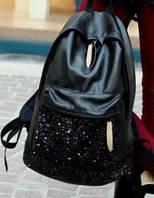 Стильный молодежный рюкзак с паетками, фото 1