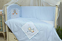 Бортики в детскую кроватку Котик