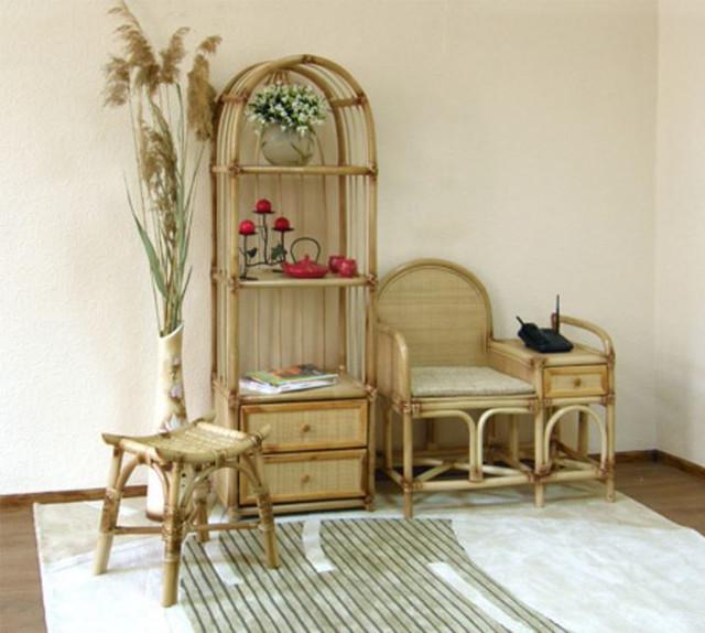 Столик под телефон Пекин Ротанг в интерьере