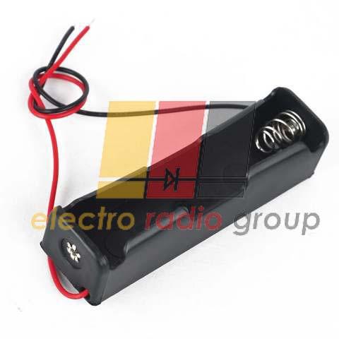 Отсек для батарей 18650 x 1 с проводами