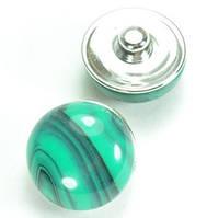 СБЧ830-2 Кнопка чанка для браслета Noosa Ф2см зеленая