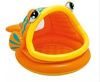 """Надувной бассейн Intex """"Рыбка"""" с навесом (Интекс 57109)"""