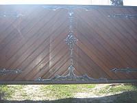 Ворота сдвижные с зашивкой профнастила