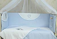 Бампер на детскую кроватку для новорожденных Мотылек