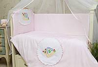 Защита (бампер) на детскую кроватку Улитка