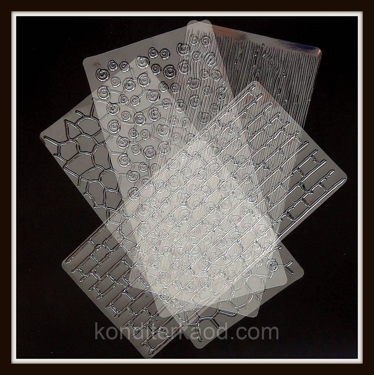 Текстурные листы Фактурные мотивы 30,5*15,5 см (4 шт)