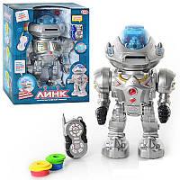 Робот PLAY SMART 9365/9366 Линк радио управляемый,интерактивный,стреляет дисками .27*15,5*33,5 см