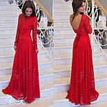 Женское шикарное гипюровое платье в пол (2 цвета), фото 3