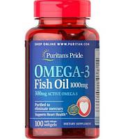Puritan's Pride Омега 3 Рыбий жир Omega-3 Fish Oil 1000 mg  100 caps