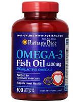 Puritan's Pride Омега 3 Рыбий жир Omega-3 Fish Oil 1200 mg 200 softgels
