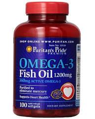 Puritan's Pride Омега 3 Рыбий жир Omega-3 Fish Oil 1200 mg  100 caps