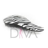 Расческа Detangler Brush Zebra RAS-06black-white