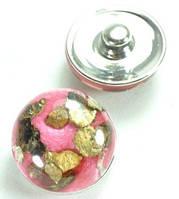 СБЧ830-1 Кнопка чанка для браслета  Noosa Ф2см красная