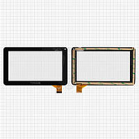 Touchscreen (сенсорный экран) для GoClever Tab R70, 30 pin, оригинал (черный)