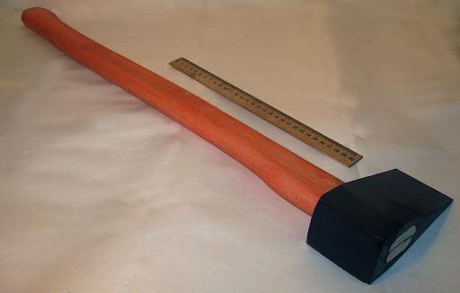 Колун кованый 3кг с ручкой