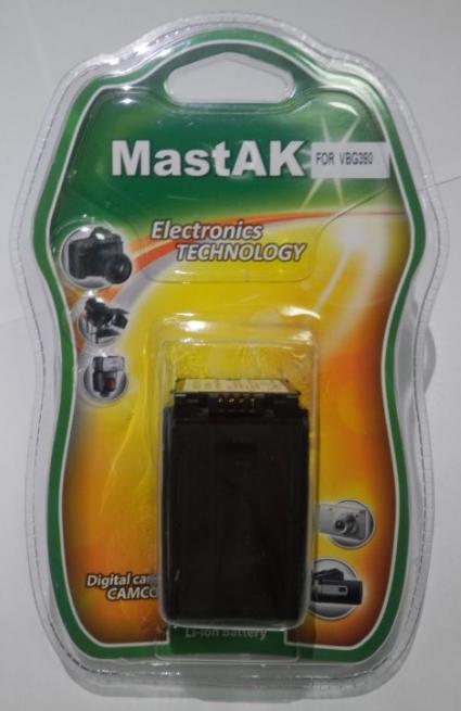 "Аккумулятор к видеокамере тм""MastAK"" Panasonic VW-VBG390 7,2V 3,15Ah Li-ion"