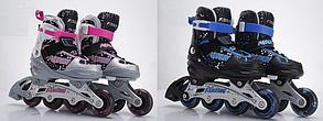 Ролики раздвижные, L (р39-41) 2 цв, шнуров+бакля, алюм.рама, колес A8072-L, фото 3