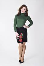 Оригинальная юбка с цветочной вышивкой ассиметричного кроя