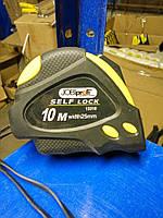 Рулетка Jobi c автостопом 10м*25мм, прорез.корпус с магнитом (13310)