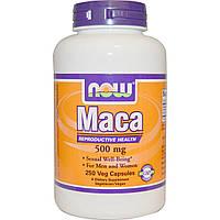 NOW стимуляция половой функции Мака перуанская Maca 500 mg (250 veg caps)