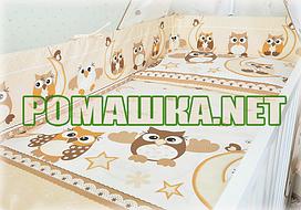 Комплект детского постельного белья в кроватку 3 эл. СОВА наволочка, простынь, пододеяльник 2964 Бежевый