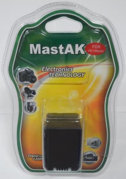 "Аккумулятор к видеокамере тм""MastAK"" Panasonic VW-VBN260 7,4V 2,1 Ah Li-ion"