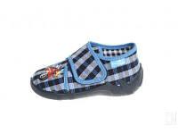 Детские тапочки летние Renbut 13-110 для мальчиков Ортопедическая обувь размер 19-25. Синяя клетка, фото 1