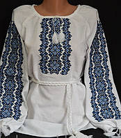 Эксклюзивная вышиванка женская на домотканом полотне
