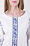 Нарядная блуза вышиванка и изящным растительным орнаментом, фото 4