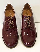 Туфли женские бордовые Kento 10641