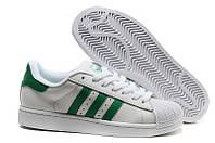 Кросівки Adidas Superstar White Green біло-зелені, фото 1