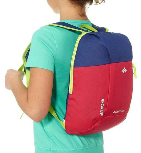 Детский качественный городской рюкзак 5 л. Quechua ARPENAZ Kid 2033562 красный с синим