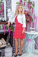 Стильный женский костюм платье и пиджак, фото 1