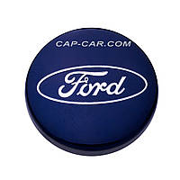 Колпачки заглушки для литых дисков  Ford синий 54мм