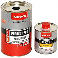 Грунт акриловый 4+1 PROTECT 300 Novol (1л) + отвердитель (0,25л), белый
