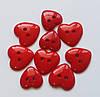 Пуговицы фигурные «Сердца красные» 9 шт.