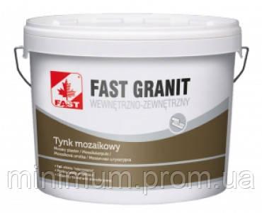 Fast granit мозаичная штукатурка с гранитно-мраморной крошкой, 14 кг