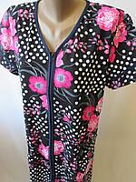 Качественные летние халаты с коротким рукавом для женщин